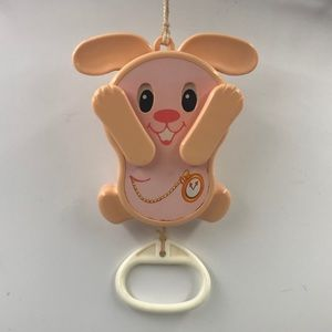 Vintage 1980 TOMY Peek-a-Boo Bunny Musical Toy